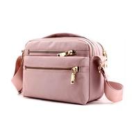 Orzbuy ผู้หญิงแฟชั่นสีทึบกระเป๋าสะพายซิปกระเป๋าไนลอนกันน้ำหลายกระเป๋า C rossbody กระเป๋าสุภาพสตรีกระเป๋าเดินทางแบบสบายๆของ Messenger