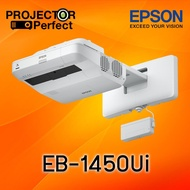 Epson EB-1450Ui 3LCD Interactive Ultra-Short Throw Projector (3,800 Ansi Lumens/WUXGA)