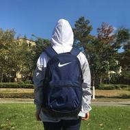 【賓工廠】Nike Brasilia 運動背包 雙肩 後背包 筆電包 雙邊水壺袋 深藍 BA5329-410