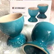 全新《LE CREUSET》🥚蛋杯 🥚蛋座 加勒比海藍