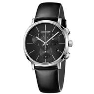 Calvin Klein CK Posh紳士簡約三眼皮帶腕錶(K8Q371C1)43mm