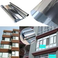 1PC Window Film One Way Mirror Silver Insulation Stickers Solar Reflective 50cm x 3M
