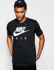 美國百分百【全新真品】Nike 壓紋 logo T恤 耐吉 短袖 T-shirt 運動休閒 黑色 上衣 情侶裝 XXS XS S號 青年版 I008