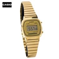 《ลดล้างสต๊อก》Velashop นาฬิกาข้อมือผู้หญิง Casio Standard สีทอง สายสแตนเลส รุ่น LA670WGA-9DF LA670WGA-9D LA-670WGA