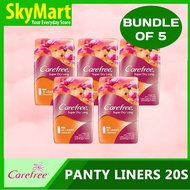 [Bundle of 5] Carefree SuperDry Pantyliners (Unscented) 20S