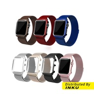 Apple watch 5代 米蘭 尼斯 不鏽鋼 一體式錶帶 加框 回環磁吸 蘋果 iwatch1/2/3/4 [現貨]