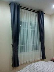 ผ้าม่านสำเร็จรูปกันแสงUV  ม่านหน้าต่าง ม่านประตู สีเทา สีทองสีน้ำตาล 130*150130*220130250200*150200*220200250 ราคาต่อ1ชิ้น
