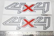 สติ๊กเกอร์ 4x4 สติ๊กเกอร์ 4x4 1 ชุด 2 ชิ้น ซ้าย ขวา Ford Ranger สีเทาของดำ V.1