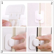 2 PCS Kids Baby Protection Fridge Freezer Refrigerator Door Drawer Cabinet Door Safety Security Lock with Adhesive - intl