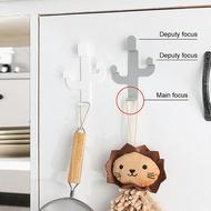 1PCกาวตะขอCactus Shape Home DecorสแตนเลสแขวนHook Heavy Duty Hooksสำหรับห้องน้ำห้องนั่งเล่น