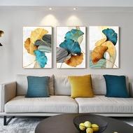 3แผงทองสีเขียวใบNordic Wall Artพิมพ์Cuadros Decorativosโปสเตอร์และพิมพ์ราคาถูกDropshipping Home Decor