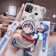 Kartun Doraemon Casing Ponsel OPPO A54 A15S A15 A74 Terbaru 2021 Kasing Dapat Disesuaikan Tali Kesing Hp OPPO A54 A74 A15S A15 2020 Dudukan Penyangga Ponsel Soft Case Hp OPPO A54 A74 Casing Ponsel
