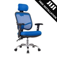 JIJI Office Executive Chair Ver 1 Adjustable ArmRest (Free Installation) - Home Office Chair/ Office chairs /Study chair/Gaming chair/Ergonomic/ Free 12 Months Warranty (SG)
