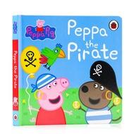 ภาษาอังกฤษเดิมแท้หมูลูกหมูโจรสลัดกระดาษแข็งหนังสือหมูเป็ปป้า: Peppaโจรสลัดสีชมพูหมูสาวอ่านหนังสือสำหรับเด็กอ่านภาษาอังกฤษตรัสรู้เต่าทองเต่าทองสิ่งพิมพ์