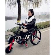 🌹現貨免運🌹艾京 輪椅車頭 輪椅電動拖車頭 輪椅車頭驅動頭 手搖輪椅車牽引頭