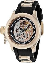 INVICTA簍空機械腕錶(玫瑰金女)