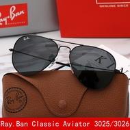 RayBan sunglasses classic Aviator Polarized RB3025/3026 Gunmetal Frame G-15 Lens black lens