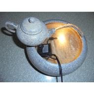 流水組~流水盆~時來運轉~石來運轉 附馬達~雷射 水晶球 ~LED燈~風水球~補財庫~ 茶壺小組1200元