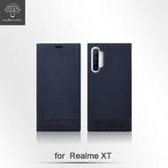 Metal-Slim realme XT 荔枝壓紋 超薄TPU 磁吸側掀可立皮套 6.4吋