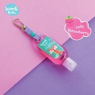 Bambi Bubu Official Shop แบบห้อยกระเป๋า เจลล้างมือแอลกอฮอล์สำหรับเด็ก กลิ่น Jelly Strawberry ขนาด 30ml