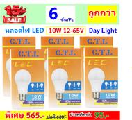 CTL (แพ็ค 6 ดวง ราคาส่ง) หลอดไฟ LED 10W 12-17V DC เกลียว E27 แสงขาว Day Light  สามารถใช้คู่กับ แบตเตอร์รี่ มอเตอร์ไซด์ รถยนตร์ 12V 24V หลอดไฟ ประกอบ แผงโซลาร์