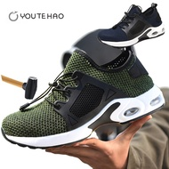 Plus size48 Safety Protection indestructible shoes men's lightweight steel toe mining boot and construction shoes