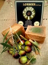 [敘利亞洛貝爾LORBEER] 正宗阿勒坡手工淨膚古皂135G 30%月桂油+70%冷壓橄欖油