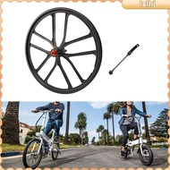 [Activity Price] 20\'\' Folding Bike Wheelset 20inch Mountain Bicycles Integrated Wheels with Schrader Valve, Quick Release Skewer Wheels Replacement