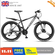 Raleigh English landing Fengtou aluminum alloy mountain bike 30/33 speed adult male and female student bicycle Q