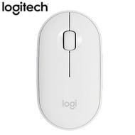 Logitech羅技 鵝卵石無線滑鼠M350-珍珠白【愛買】