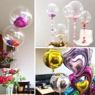 結婚婚慶裝飾流蘇透明球婚房布置 透明高耐久氣球波波雙層球中球