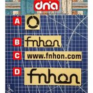 Cutting sticker, folding bike logo fnhon