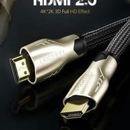 Ugreen 2m 4k 60 Fps Hdmi 2.0 Metal 2 Meters Hdmi Cable