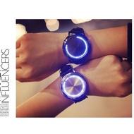 韓版LED觸碰錶 發光情侶對錶  閃光手錶 生命樹 藍星空 生日禮物 手錶【H94】