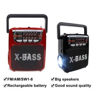 ❆kuku Rechargeable AM/FM Radio with wireless bluetooth speaker USB/SD Music Player