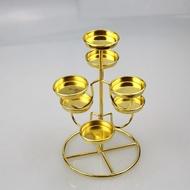 酥油燈三層7盞蓮花酥油燈座 供燈酥油燈燈架 酥油燈架七星燈 阿薩布魯