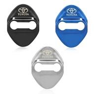 豐田車門鎖蓋裝飾保護不銹鋼蓋盒新品 上架