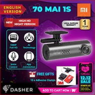 [LATEST 2019] Xiaomi 70MAI 1S 1080P Car Recorder Dashcam Dashboard 70 MAI Car Cameras WiFi APP CONTR