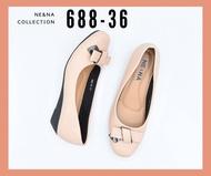รองเท้าเเฟชั่นผู้หญิงเเบบคัชชูส้นเตารีด No. 688-36 NE&NA Collection Shoes
