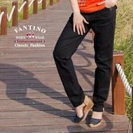 【FANTINO】女款 法式修身長褲(黑)473302