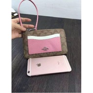 COACH 65154 拼色款pvc材質 女士手拿包/零錢袋