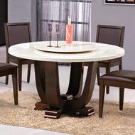 【AS】艾特4.2尺石面圓餐桌-130x130x75cm