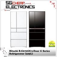 Hitachi R-G670GS 6-Door G Series Refrigerator (525L)