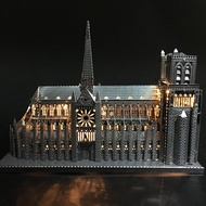 3D DIY Metal puzzle Notre Dame de Paris build model for adult/kids kindergarten educational diy toys for children juguetes