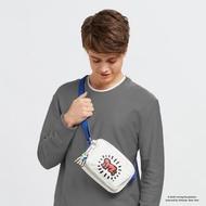 【KIPLING】Kipling x Keith Haring 限量聯名系列街頭塗鴉前後加寬收納側背包-ABANU