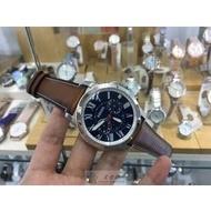 美國FOSSIL.石英男表 44mm錶盤 真牛皮皮帶 50米防水.正品貨 國際聯保2年