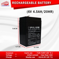 6V 4.5AH / 20HR UPS Sealed Rechargeable Battery 6 VOLTS 4.5 AMPERE HOUR ( Ebike Battery Battery Rechargeable UPS Original Battery )
