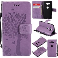 For SONY Xperia XZ2 Compact XZ2mini Embossed flip Leather case cover