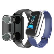 T89 Smart Watch Bluetooth5.0 Headphone Bracelet Call Reminder Heart Rate Blood Pressure Monitor Smart Watch For Men Women