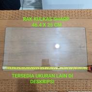Rak Kulkas Sharp Tempered Glass 1 pintu dan 2 pintu SIDOARJO